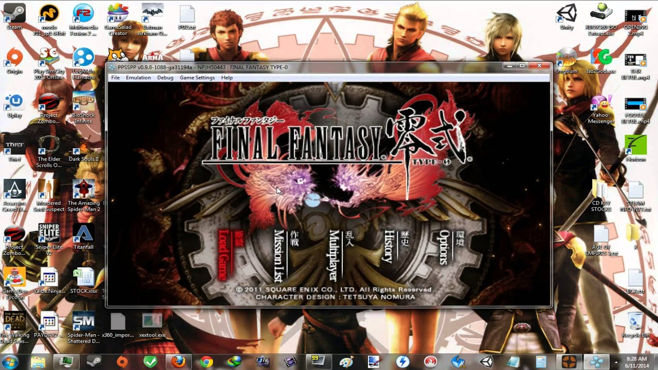 Ppsspp][pc] final fantasy type-0 merged iso with english patch.