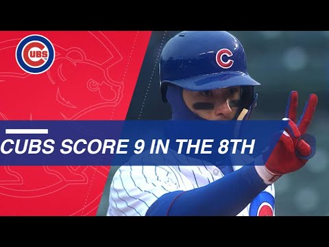 Cubs come back with nine-run 8th inning