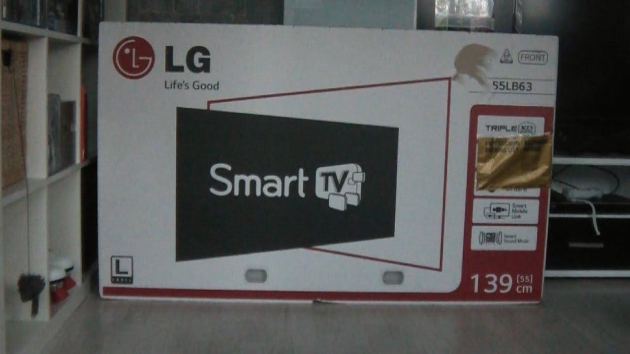 lg 55lb630v 55 zoll led smart tv unboxing youtube. Black Bedroom Furniture Sets. Home Design Ideas