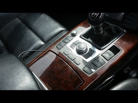 How to replace central console - MMI control, handbrake button on Audi A6 (C6 4F)
