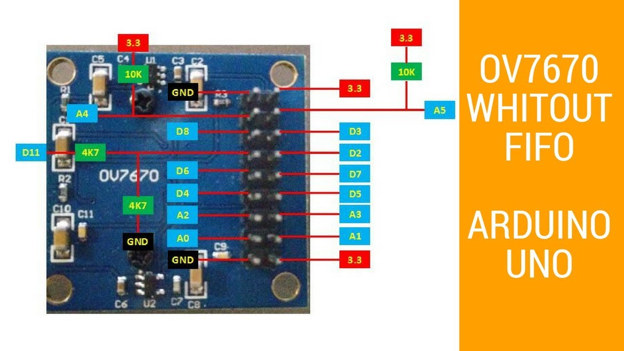 Tutorial Arduino - Sensor camera OV7670 with Arduino UNO part 1-3