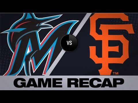 Yastrzemski scores go-ahead run late in win | Marlins-Giants Game Highlights 9/15/19