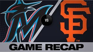 Yastrzemski scores go-ahead run late in win | Marlins-Giants Game Highlights 9/15/19