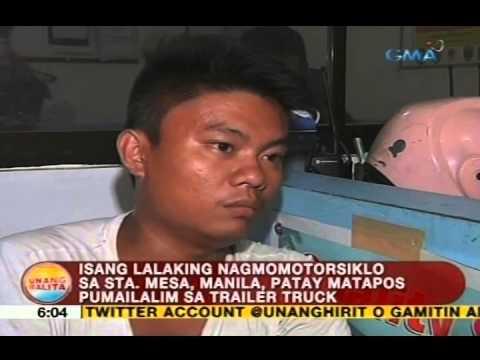 UB: Isang lalaking nagmomotorsiklo sa Sta. Mesa, Manila, patay matapos pumailalim sa trailer truck