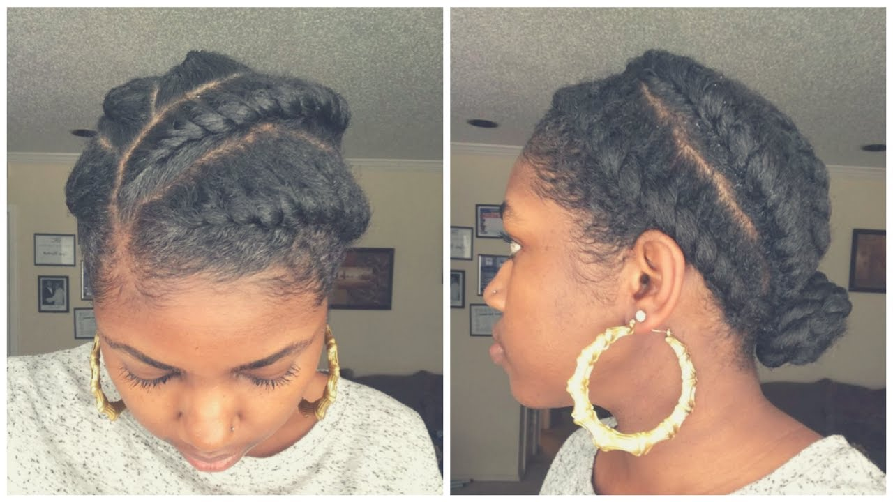 SUPER EASY Flat Twist Protective Style On Natural Hair