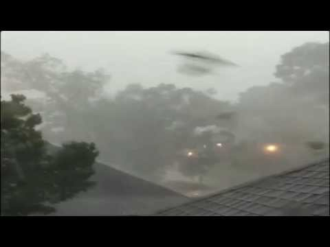 Severe Tornado Storms Hits New Orleans Louisiana - Hurricane Damages Train Bridge (RAW FOOTAGE)