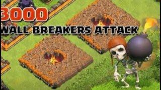 Clash of clans wall breaker break all walls?in Hindi