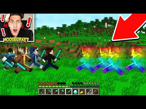 RS VS RAINBOW STEVE IN MINECRAFT!