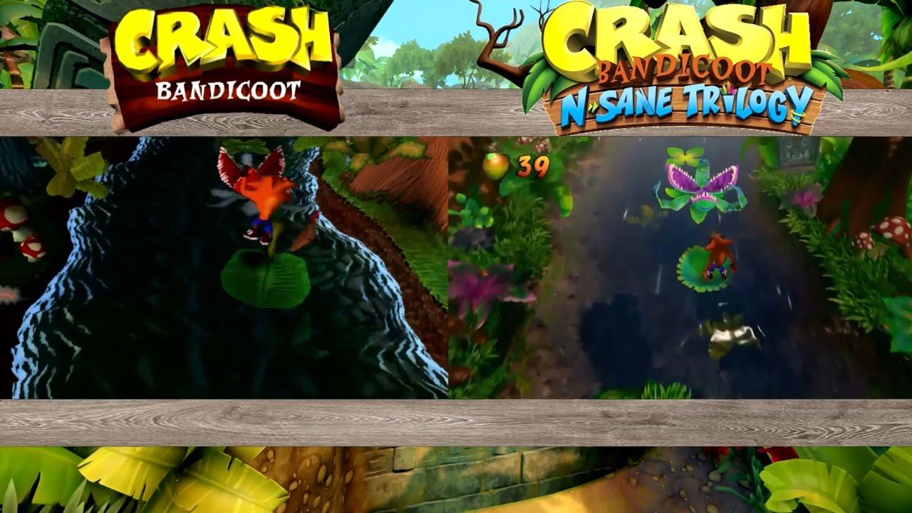 Crash Bandicoot N Sane Trilogy Upstream ORIGINAL VS NEW