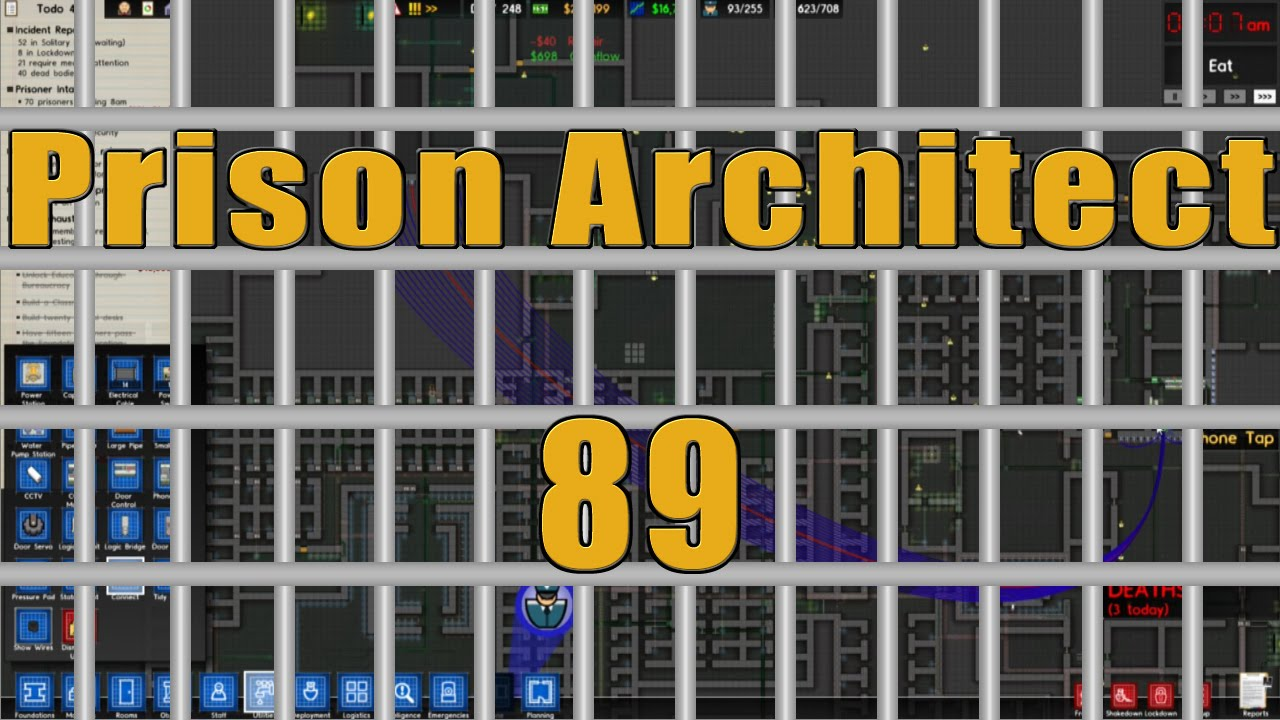 Prison Architect HD Walkthrough Part 89: Illegal Wire Tapping - YouTube
