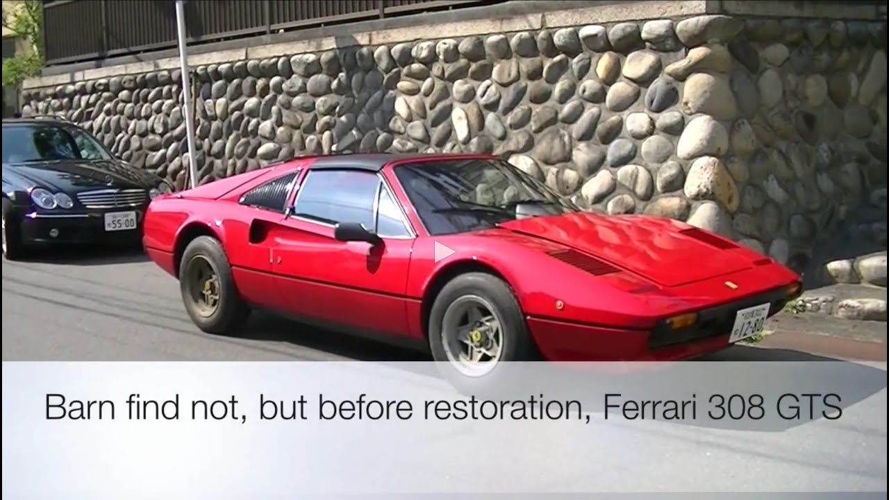 Barn Find Not But Before Restoration Ferrari 308 GTS
