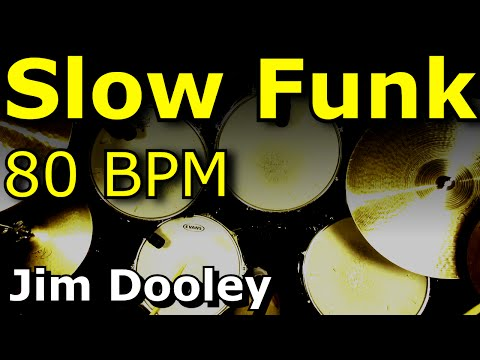 Drum Loops - Slow Funk 80 BPM - Jim Dooley