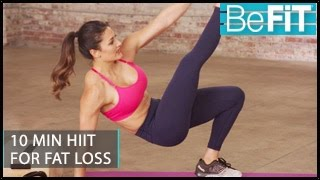 10 Min HIIT Workout for Fat Loss: BeFiT Trainer Open House- Madeline Mosier