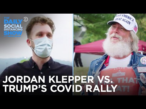 Trump's COVID Rally - Jordan Klepper Fingers The Pulse   The Daily Social Distancing Show