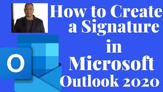 How To create a signąture in Microsoft Outlook 2020