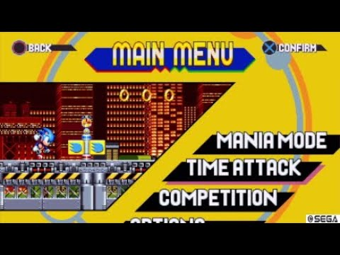 SONIC MANIA - NEW TAILS TRANSITIONS, NEW MENU, SPECIAL OPTIONS ON SAVE FILES!