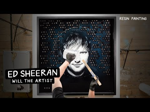 Ed Sheeran Resin Painting! ⚡️ Will the Artist