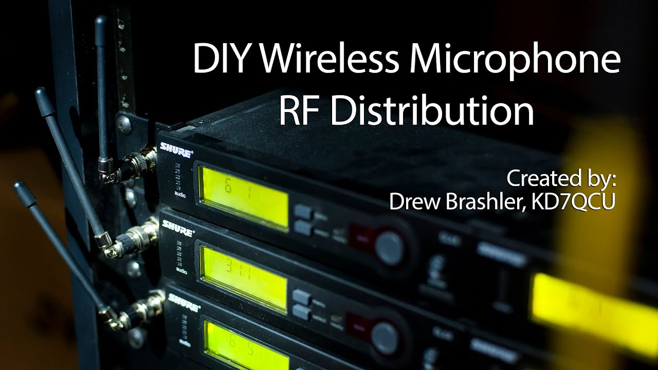 Diy Wireless Microphone Rf Distribution Youtube Active Antenna Circuit Diagram