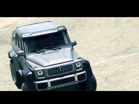 Mercedes-Benz G 63 AMG G-Class 6x6 Concept Car in the Dubai Desert