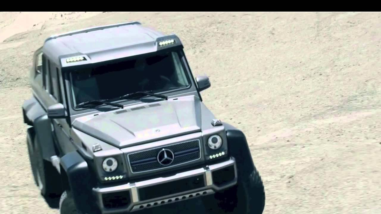 Mercedes Benz G 63 AMG G Class 6x6 Concept Car In The Dubai Desert   YouTube