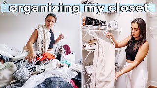 organizing my ENTIRE closet! (& decluttering while stuck at home)