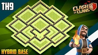 'UNSTOPPABLE' TH9 HYBRID/TROPHY Base 2019!! | Town Hall 9 (TH9) Hybrid Base Design - Clash of Clans