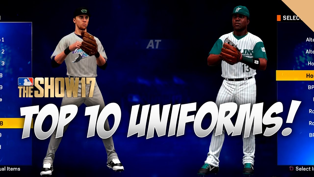 7ddcf3a6161 Top 10 Uniforms in MLB The Show 17 - YouTube