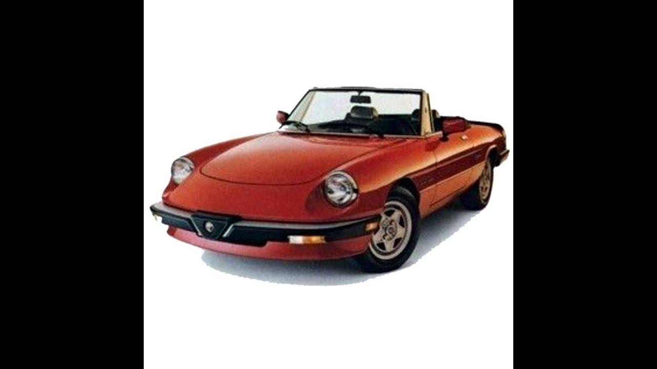 [SODI_2457]   Alfa Romeo Spider (1983-1989) - Service Manual - Manuale di Officina -  Parts - Wiring Diagrams - YouTube | Alfa Romeo Spider Wiring Owners Manual |  | YouTube