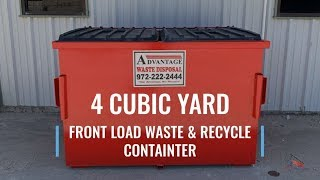 4 Cubic Yard Front Load Dumpster for Business Waste and Recycling Bin | Advantage Waste Disposal