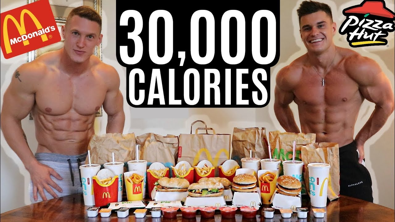 BODYBUILDERS vs 30,000 CALORIE CHALLENGE   Epic Cheat Day
