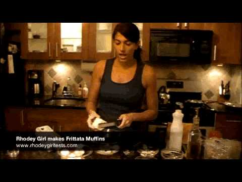 RhodeyGirl Makes Egg White Vegetable Frittata Muffins