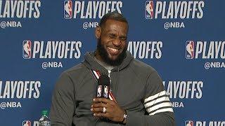 LeBron James Postgame Interview - Game 2   Cavaliers vs Raptors   May 3, 2018   2018 NBA Playoffs