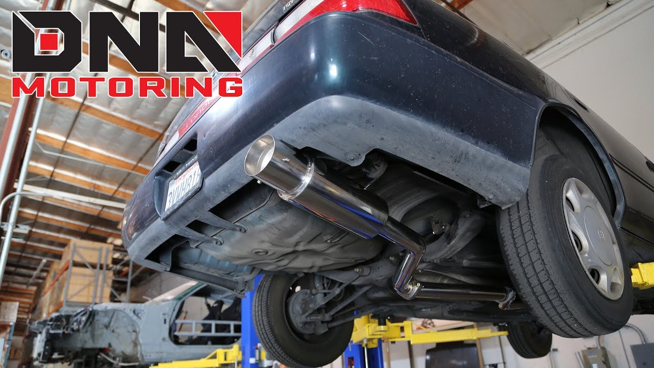 how to install 93 97 toyota corolla catback exhaust