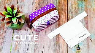 DIY fabric scraps idea ‖ Here's the way to use them up ‖ Cute Storage Pouch Tutorial