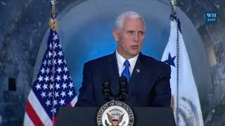 America will lead in space again, Pence says