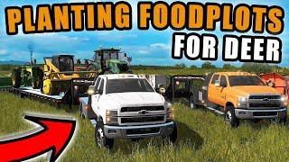 HUNTING SEASON! HAULING FOODPLOT EQUIPMENT WITH OUR 2019 CHEVY DURAMAX 4500 | FARMING SIMULATOR 2017