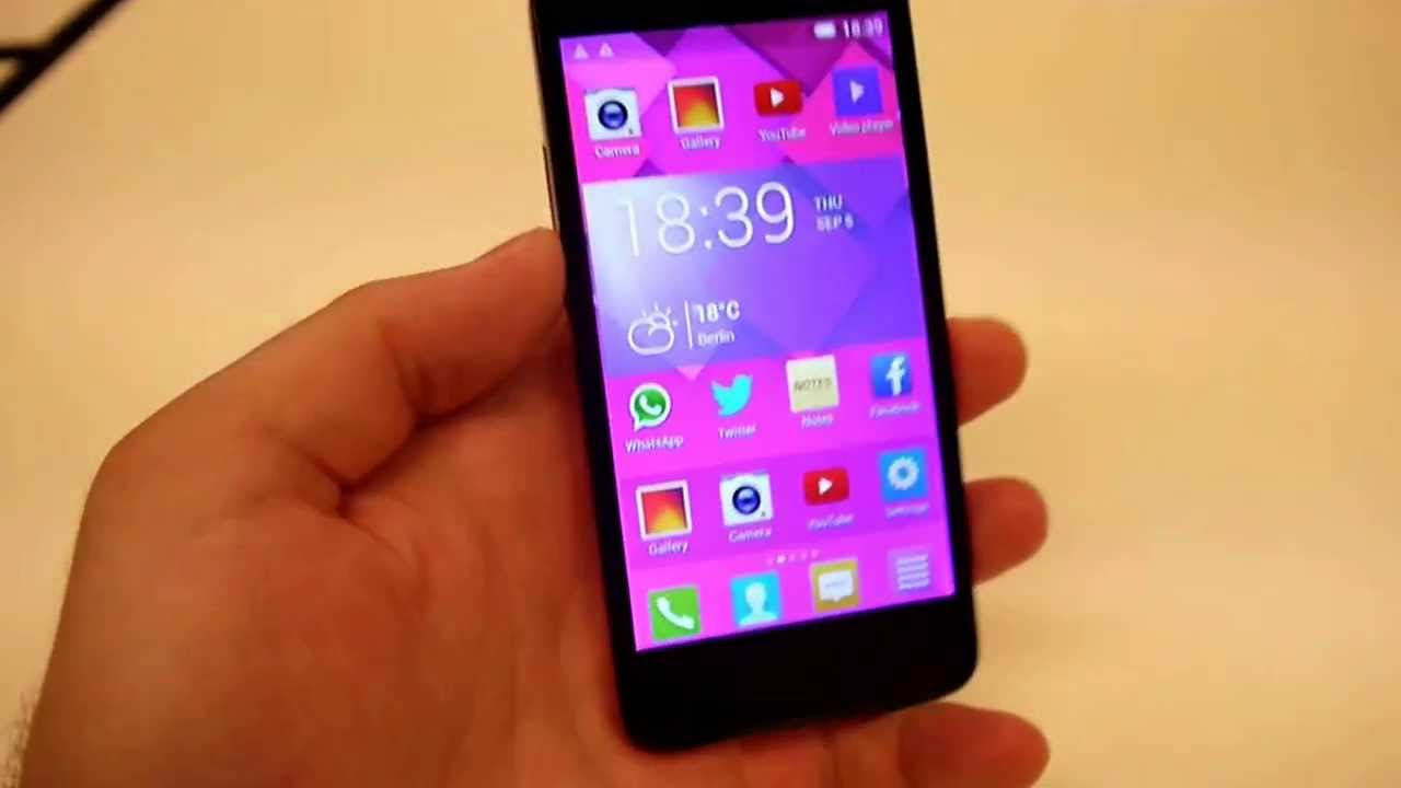 f625bc3a91f Alcatel One Touch Idol mini Hands on - YouTube