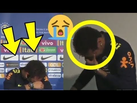 Neymar Jr Crying at Press conference with Brazil while Tite defends him!