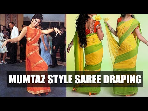 How to drape Mumtaz style saree   Say swag