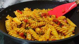 ऐसा स्वादिष्ट पास्ता घर पर बनाये आसान और नए तरीक़े से  Indian Style Pasta Recipe  Spicy Masala Pasta.