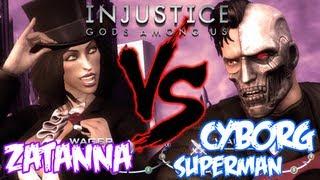 INJUSTICE: GODS AMONG US - Zatanna Vs Cyborg Superman Gameplay [HD] Xbox 360 PS3 Wii U