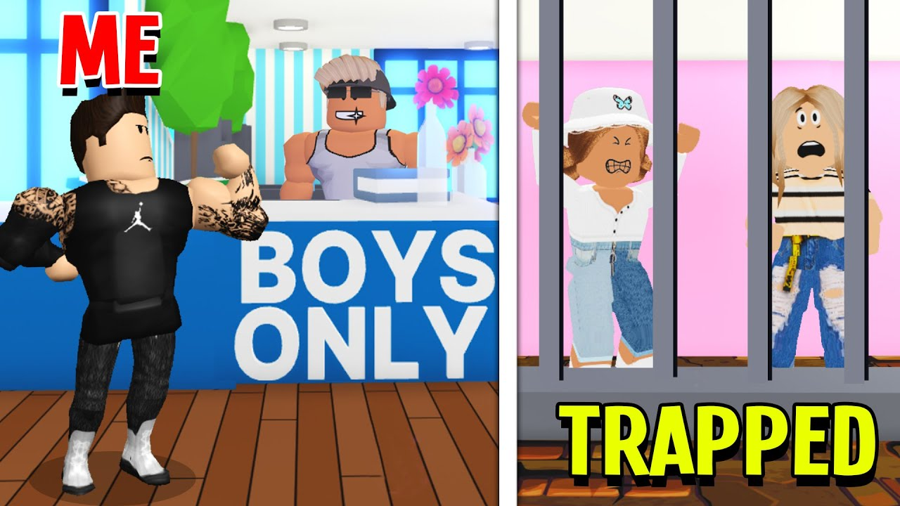 I Went UNDERCOVER To A BOYS ONLY Gym & Found Girls Trapped In Adopt Me! (Roblox)