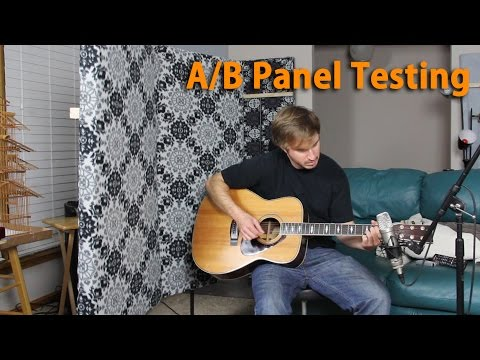 DIY Acoustic Panel A/B Testing - Recording Acoustic Guitar