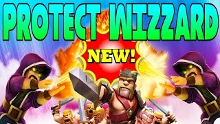 "CLASH OF CLANS - PROTECT THE WIZARD! OMG!""FUNNY MOMENTS+INSANE PROTECT TROOP RAID"" (EPIC TOWN HALL)"