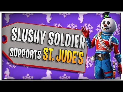 Fortnite - Slushy Soldier supports St. Jude's! -ft. BasicallyIDoWrk, Wildcat, Nogla | DrLupo