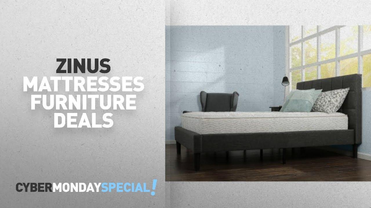 Walmart Top Cyber Monday Zinus Mattresses Furniture Deals: Slumber 1 By  Zinus 10 Inch Comfort Spring