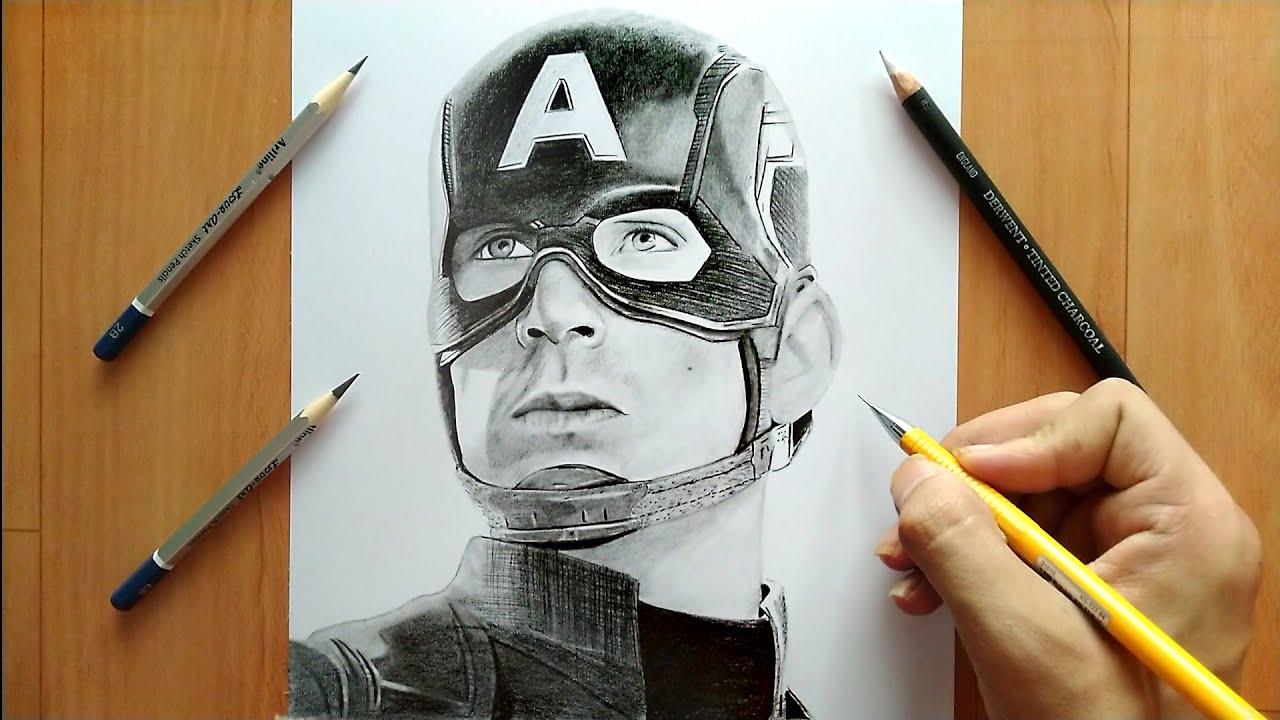 Drawing captain america
