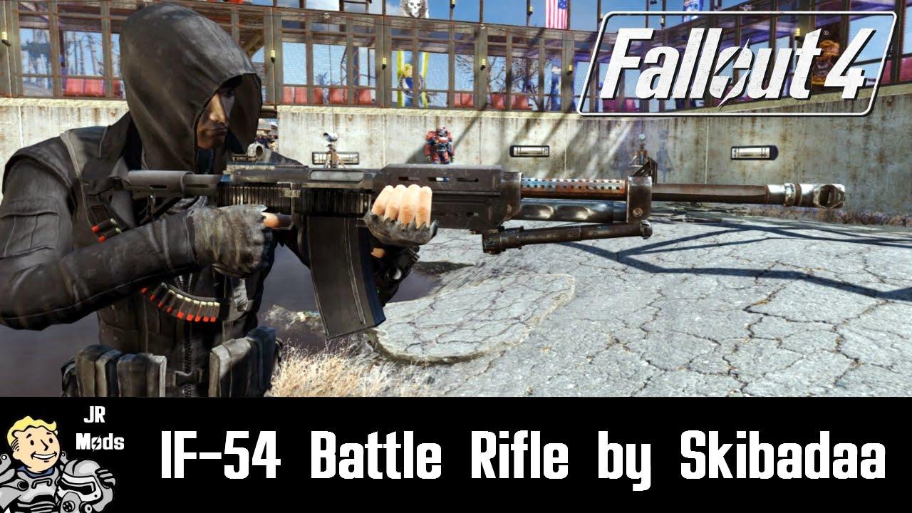 Fallout 4 Mod Showcase: IF-54 Battle Rifle by Skibadaa