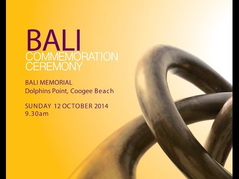 Bali Commemoration Ceremony 2014 - Coogee Beach