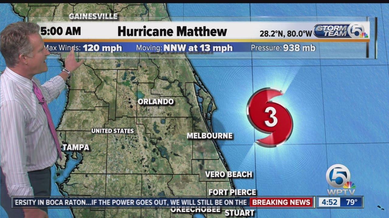 Hurricane Matthew 5 A M Friday Update 10 7 16 Youtube